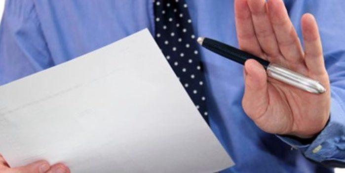 Refus de signer